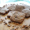 Chocolate Espresso Toffee Shortbread Cookies