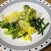 Zucchini, Broccoli and Asparagus Scramble
