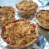 Strawberry Apple Crumble Pies