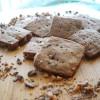 Chocolate Espresso Toffee Shortbread Cookies